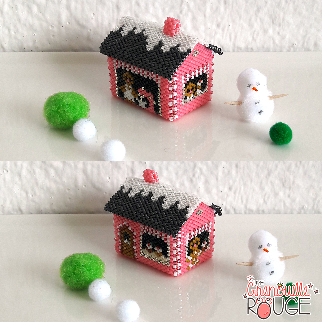 Gingerbread house - Miyuki Delica Seed Beads