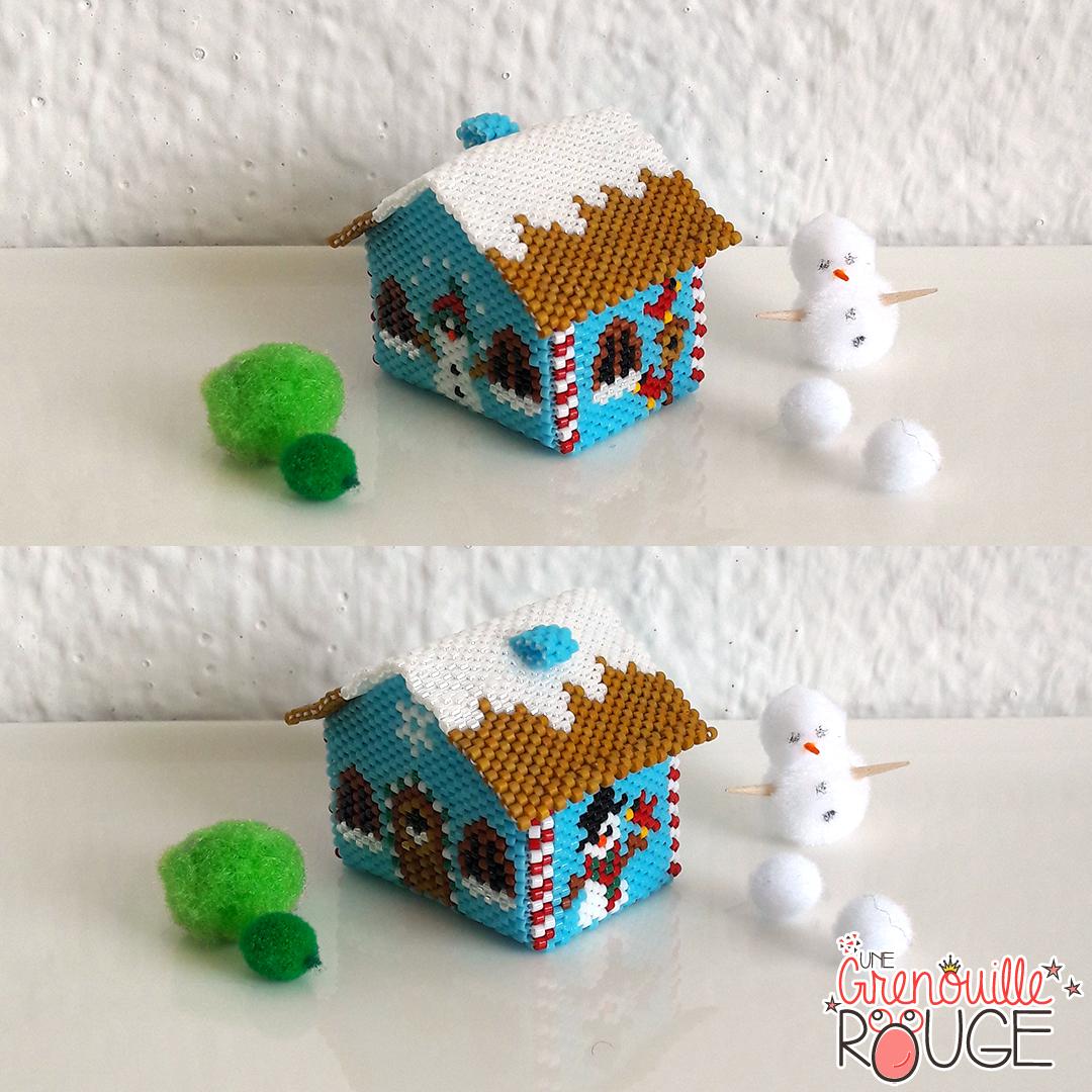 Villa snowflake - Miyuki Delica Seed Beads