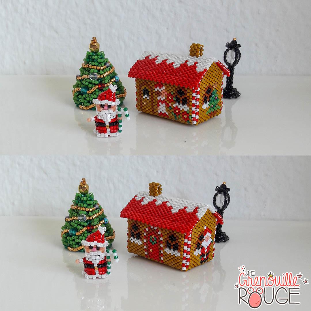 Santa House - Miyuki Delica Seed Beads